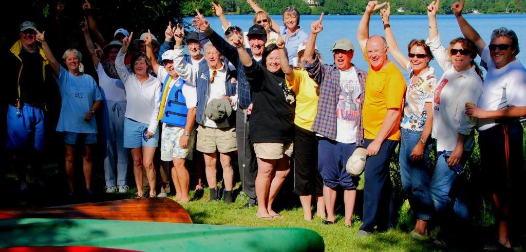 Revilla's paddlers at Clear Lake