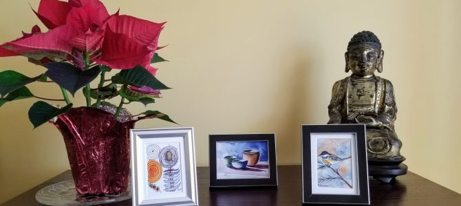 D'adorables tableaux miniatures de 11 Artistes du Studio de Dunany. Regardez!